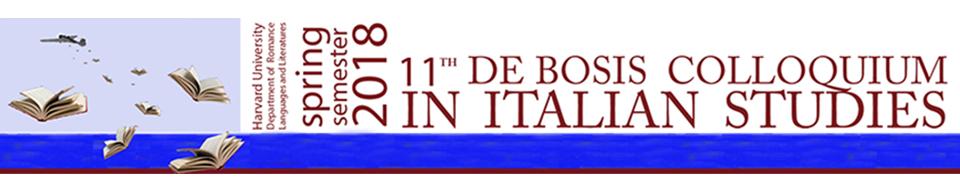 De Bosis Colloquium in Italian Studies
